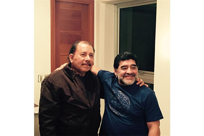 Maradona visitó al presidente Ortega