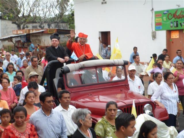 Cardenal Leopoldo Brenes visitó Masatepe