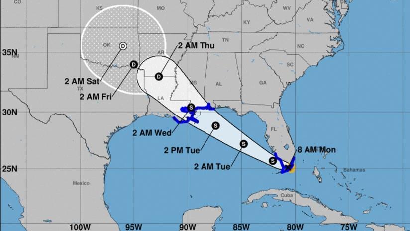 La tormenta tropical Gordon a pocos kilómetros de Florida