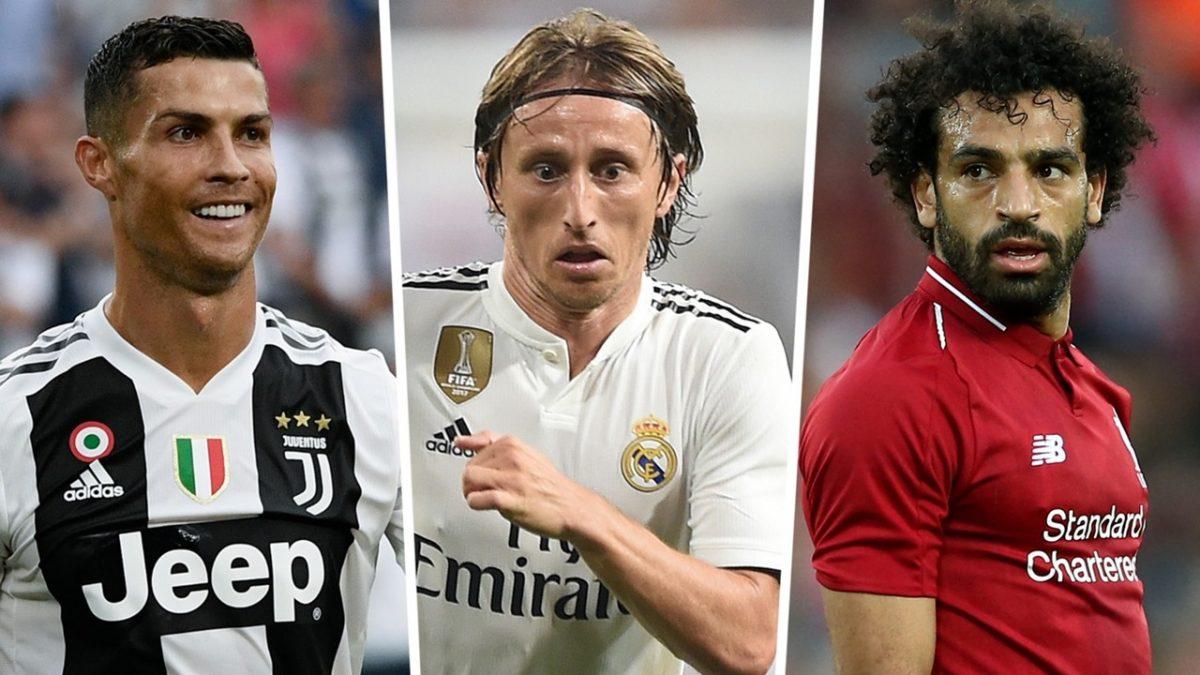 Ronaldo, Modric y Salah