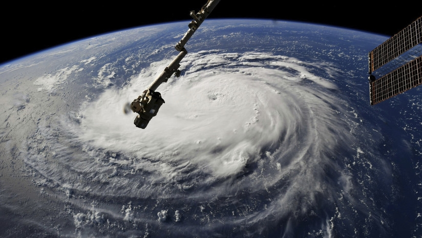 Imagen del huracán Florence tomada desde la Estación Espacial Internacional por el astronauta Ricky Arnold